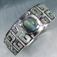 0.23cts Natural Alexandrite cats eye colour change 925 Silver unisex ring