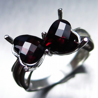 3.70ct Natural Spessartite hearts garnet 925 sterling silver ring all sizes