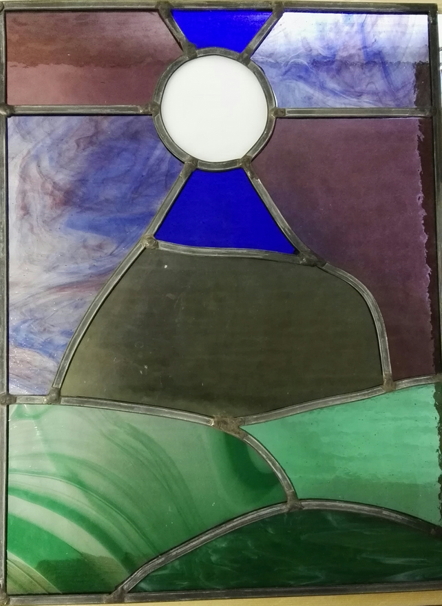 Stained Glass Light Catcher- Pendle Hill
