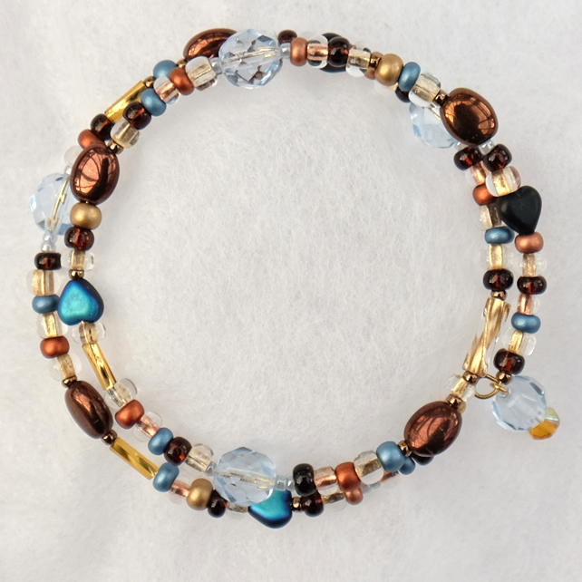 Coastal Sunset Bead Wrap Bracelet