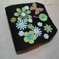 SALE -Girls Foam Notebook with fastening