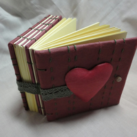 Double Notebook -Heart-Journal-Diary-Handmade-Anniversary- Valentine gift