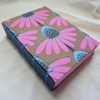 Echinacea - Handmade Notebook-Diary-Travel Journal-Guest Book-vegan gift