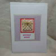 Birthday Wishes - Handmade card
