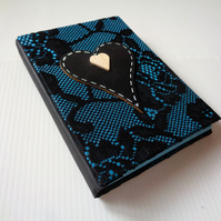 SALE-Lace -Handmade notebook chalkboard heart -Valentine -Mother-Vegan-Christmas