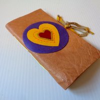Heart - Handmade Leather Notebook small gift