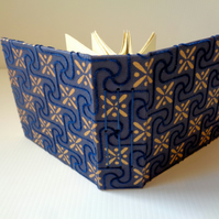 Navy Blue and Gold - Handmade Scrapbook-Scetchbook-Diary-Vegan- Christmas