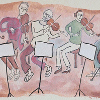 Giclee print taken from painting of musicians - Mendelssohn's Octet