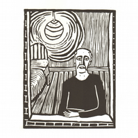 Lino print, limited edition, mental health awareness, loneliness