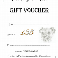 Gift Voucher for commissioned artwork