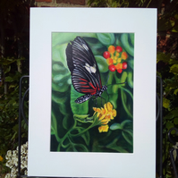 A4 Print from original Painting, Butterfly