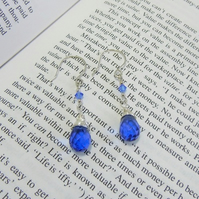 Faceted Blue Glass Earrings - 'Ice Princess'