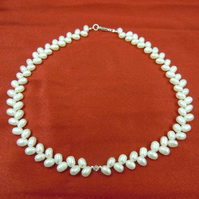 Freshwater Pearl Bridal Choker Necklace - 'Angela'