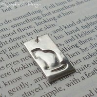 Fine Silver Cat Pendant - 'Sitting Cat'