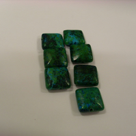 Bead Destash - Chrysocolla squares