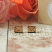 Love letter handpainted cute earrings