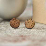 Figgy Christmas Puddings Stud Earrings