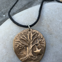 Tree and Star Necklace