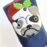Pug Gift Stocking, Pet Christmas Stocking, Pugs, Stocking, Dog lovers Gift, Dogs