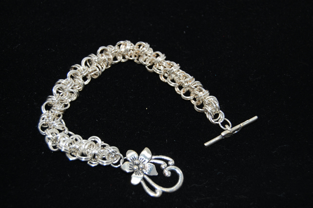 Ladies Silver Chainmaille Bracelet  Womens Jewellery Gifts