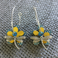 """Dragonfly Sky"" flower earrings"
