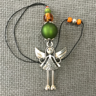 """Olive Angel"" short necklace"