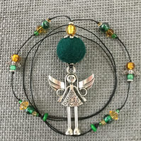 """Forest Angel""  pendant necklace"