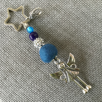 """Blue Angel"" key ring - bag charm"
