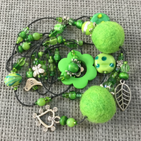"""Pea"" Hotchpotch lariat necklace"