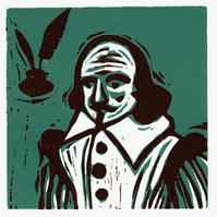Shakespeare - woodcut print
