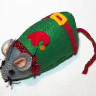 Elf Mouse - Festive cat toy or collectable