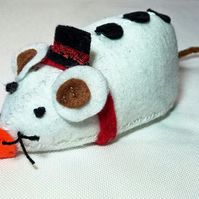 Frosty the Snowmouse - Festive cat toy or collectable