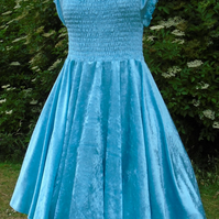Fairytale light blue crushed velvet Ella dress