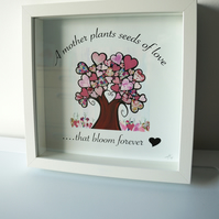 A Mother Plants Seeds of Love Framed Print - The Patchwork Tree