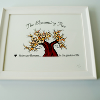 Sisters are Blossoms Print - The Blossoming Tree