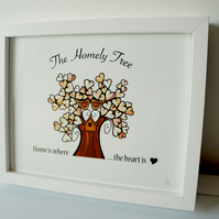 Home is where the Heart is Framed Print - The Homely Tree