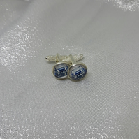 CL19 Blue mini picture cufflinks