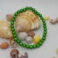 BR321 6mm green miracle beaded bracelet