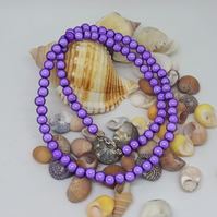 NL28- Purple miracle bead necklace