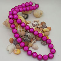 NL16 - Pink miracle bead necklace