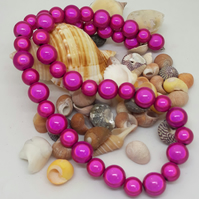 NL15 - pink miracle bead necklace 18""