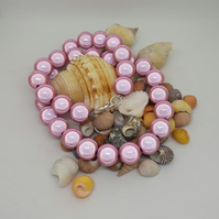 NL12 - pink miracle bead necklace