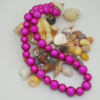 NL14 - Pink miracle bead necklace 16""