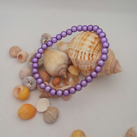 BR278 Lilac miracle bead bracelet