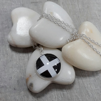 SPP02 St Piran's Cornish flag pendant and chain