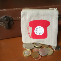 Retro Dial Phone Coin Purse