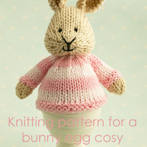knitting pattern for a bunny egg cosy - Folksy