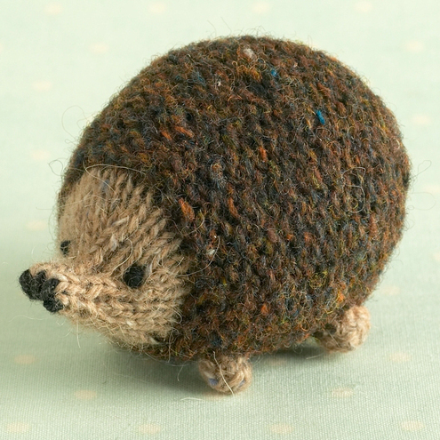 Small Hedgehog Knitting Pattern : Knitting pattern for a little oddment hedgehog - Folksy