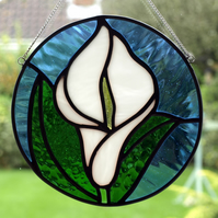 Stained glass Arum Lily