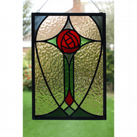 Stained glass Mackintosh style light catcher